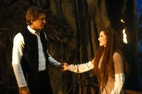 Star Wars: Episode VI - Return of the Jedi Harrison Ford and Carrie Fisher
